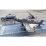 Modbrix 82005 - 300-teiliges Bausteine Set, Jagdflieger Focke Wulf 190 inkl. Pilot