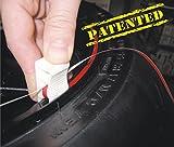 4R Motorrad Felgenbänder Felgenrandaufkleber Schwarz Reflektierend