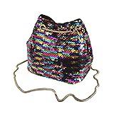 IGEMY Frauen und Mädchen Mode Umhängetasche weibliche Bling Pailletten Tasche (Bunt)
