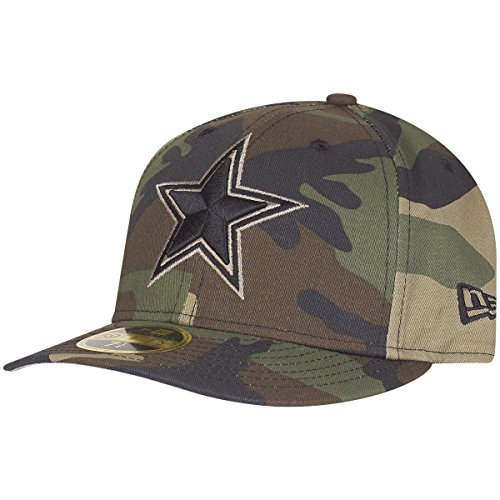 New Era 59Fifty Low Profile Cap - Dallas Cowboys Wood camo (Camouflage Cowboy Mütze)