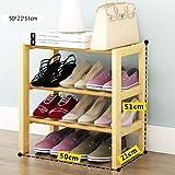 Xiejia Massivholz Schuhregal Hause einfache kleine Schuhregal Staub Schuh Rack weiß Schuhe Lagerregal (Farbe : B, größe : 50 cm)