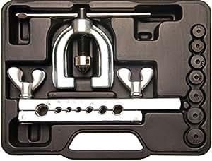 Kraftmann 3060 Presse à collets doubles, Argent/noir, Set de 9 Pièces