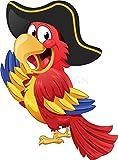Sticker Enfant Perroquet Pirate - SAEF1023 (Hauteur 30cm)