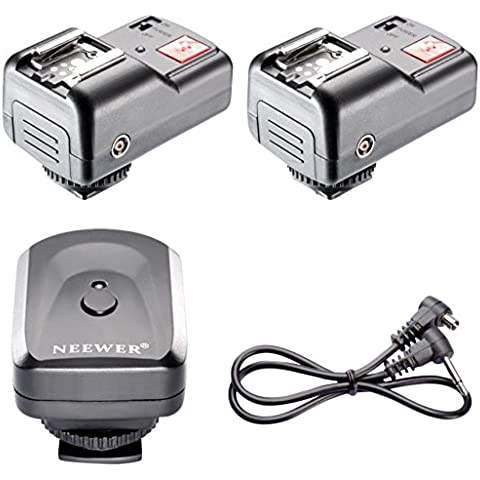 Neewer - Kit de 4 Canales. Disparador de Flash Inalámbrico/Radio con 2 Receptores
