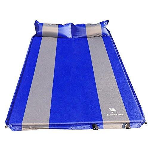 CAMEL Doppelt-selbstaufblasende Isomatte Schlafmatte mit 2 Kissen Luftmatratze Aufblasbare Isomatte Für 2 Personen Camping Outdoor