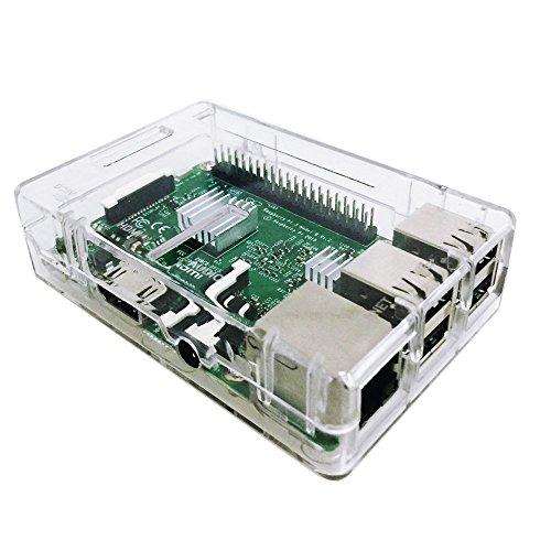 51ecyL1 hhL - Zacro 3-EN-1 Kit - Kit para Raspberry Pi 3 Modelo B Caja, Cargador y Incluye el Disipador de Calor