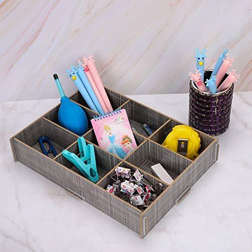 Caja de almacenaje con 9 rejillas separadas cajón