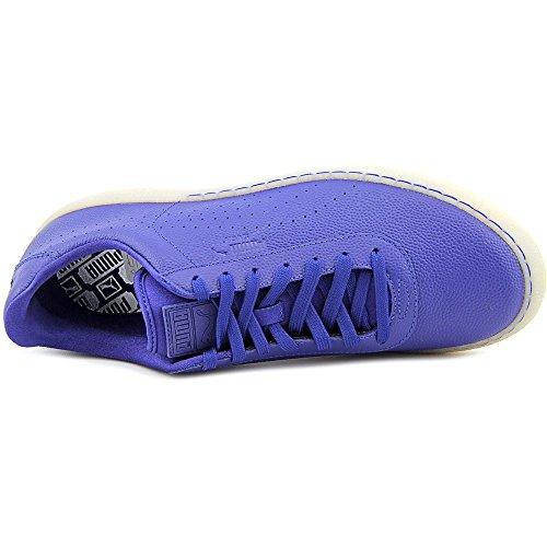Puma Star Hommes Cuir Baskets Blue Print