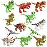 Juguetes educativos Sannysis Modelo de Dinosaurio Simulado para Niños Niños Juguete Regalo del dinosaurio (12PCS Color)