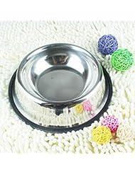 LIANPINGSuministros de mascota perro tazón de fuente del animal doméstico dominio acero inoxidable de alto espesor antideslizante perro y recipiente de comida de gato . 3