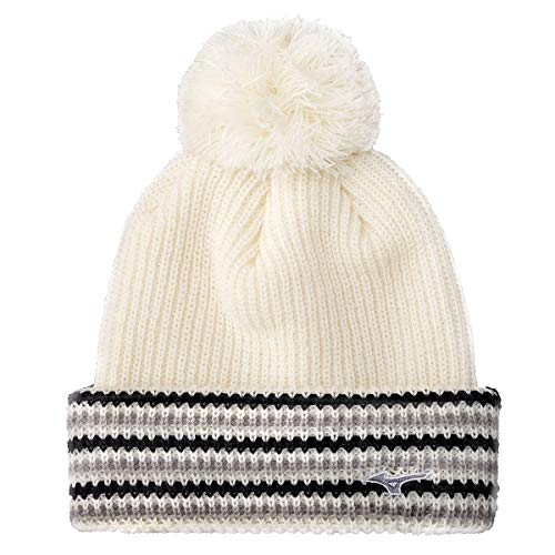 Mizuno Hommes Breath Thermo Turned Edge Golf Bobble Hat - Blanc
