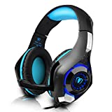 DIZA100 PS4 Gaming Headset 3.5mm Stereo Over Ear with Microphone for PlayStation 4, Xbox one,PC-Blue