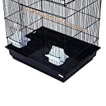 PawHut Large Metal Bird Cage for Parrot Parakeet Macaw Pet Supply Black 47.5L x 36W x 91H (cm) 12