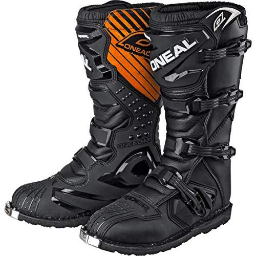O ' Neal Rider Mx Motocross Supermoto Moto Stivali Neri 2015 - 100-per cento - cotone - bordi elastici, 39, nero