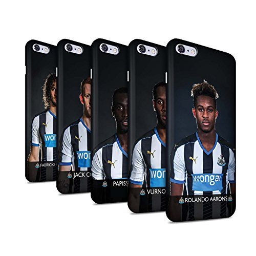 Offiziell Newcastle United FC Hülle / Matte Snap-On Case für Apple iPhone 6S+/Plus / Janmaat Muster / NUFC Fussballspieler 15/16 Kollektion Pack 25pcs