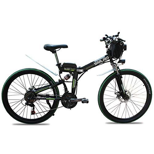 Wheel-hy 26 Zoll Mountainbike, E-Bike Elektro Faltrad mit 36V 15Ah Akku, 350W, Shimano 21 Gang-Schaltung