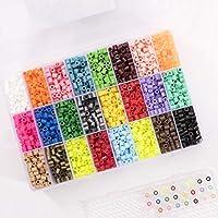 Vaessen Creative Beads, Mezcla de 24 Colores, Set de 5000 Piezas en un Caja de Almacenamiento, Perfecta para Manualidades DIY para Niños, Creación de Joyas y Decoraciones Hechas en Casa, 5 mm