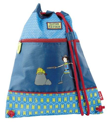 sigikid, Jungen, Kindergartentasche Ritter, Ritter Rettich, Blau/Rot, 24011 Turnbeutel / Ritter Rettich