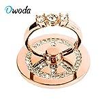 O'woda Crystal en Forme de Coeur Anneau Support Téléphone Bague 360 Degrés de...