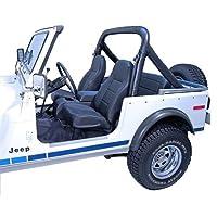 Rampage prodotti 76870178–91Jeep Wrangler CJ & Roll bar Pad & cover kit, nero