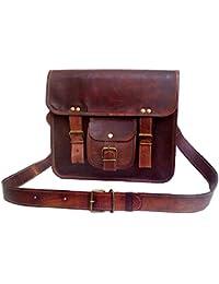 """Art Studio 13"""" Inch Leather Messenger Bag Laptop Bag Crossbody Bags For Men & Women"""