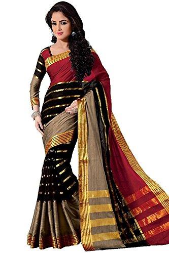 Indian Beauty with Blouse Piece Art Silk Saree