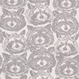 Tela de punto blanca mapache gris de Alexander Henry Rocky Raccoon