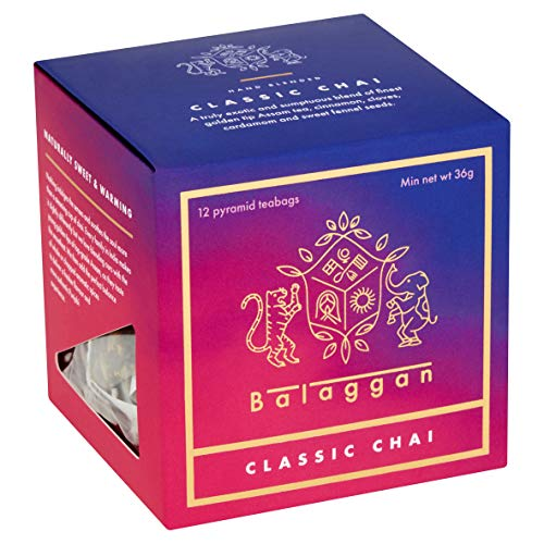 Chai Tea - Classic Chai | Premium | 12 Biodegradable Pyramid Tea Bags | by Balaggan.