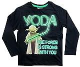 Star Wars Kollektion 2018 Langarmshirt 104 110 116 122 128 134 140 146 Jungen Jedi-Meister Pullover Yoda (Dunkelblau, 140-146)
