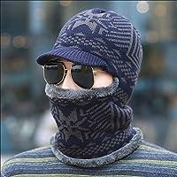 sheng Chapeau hommes hiver Koreancap hommes hiver épais jeunesse tricot sauvage chapeau de coton chaud de couverture noir