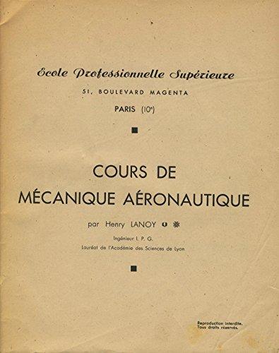 Cours de mécanique aéronautique
