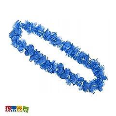 Idea Regalo - Collana Hawaiana con Petali BLU - Party Addio Nubilato Azzurra Festa Hawaii