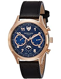 Swiss Eagle Analog Blue Dial Men's Watch-SE-9092LS-RG-02