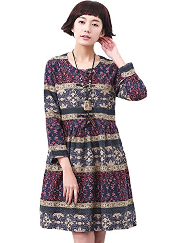 MatchLife Femme Printed O-Cou Robe XS-M Bande