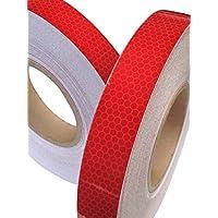Cinta Reflectante Alta Visivilidad Grado Intenso Color Rojo 25mm x 2.5m