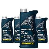 4 x 1L MANNOL Compressor Oil ISO 100 / DIN 51 506 VBL, VCL & VDL