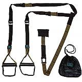 Schlingentrainer »Alexandros« / Sling - Suspension - Training / Rutschfeste Griffe inkl. Türanker, Karabinerbefestigung und Transportbeutel / braun -