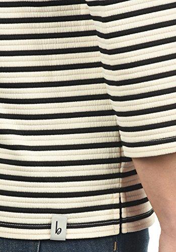 BLEND SHE Dodo Damen Sweatshirt Pullover Sweater mit Stehkragen aus hochwertiger Materialqualität Snow White (20006)