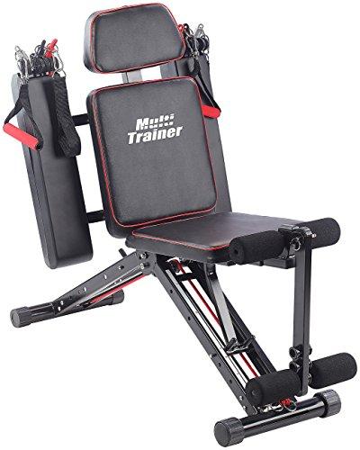 PEARL sports Fitnessgerät: 40in1 Ganzkörper Krafttrainer HT-640 mit 40 Übungen (Ganzkörper Trainer) Test