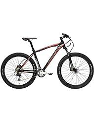 'Mountain Bike Cicli Adriatica Wing RX 27.5 con marco de aluminio, frenos de disco hidráulico, horquilla delantera Pedal, ruedas de 27,5, cambio Shimano a 27 Velocidad, negro / rojo