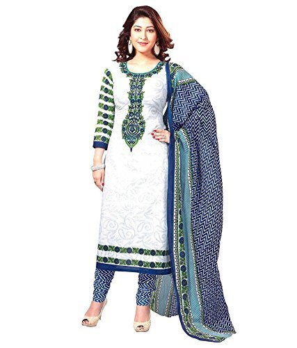 Women's Clothing Dress Material Designer Party Wear Today Offers Low Price Sale buy online Top Yellow Colour Cotton Fabric Free Size Salwar Suit Dupatta  available at amazon for Rs.199