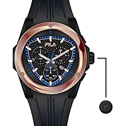 Men's Fila Watch - Chronograph (821 002 Stainless Steel/Black
