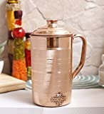 #8: IndianArtVilla Handmade Pure Copper water Jug Pitcher, 1700 Ml
