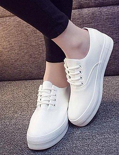 ZQ hug Scarpe Donna - Sneakers alla moda - Tempo libero / Formale - Comoda / Punta arrotondata - Plateau - Finta pelle - Nero / Bianco , white-us8.5 / eu39 / uk6.5 / cn40 , white-us8.5 / eu39 / uk6.5  black-us6.5-7 / eu37 / uk4.5-5 / cn37