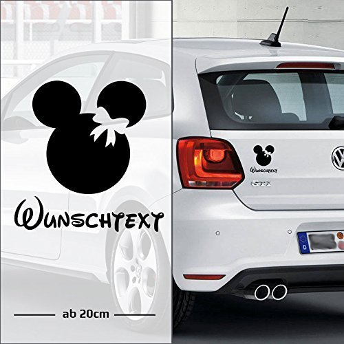 Micky Girl Maus | Baby - Name On Board | Wunschtext | Auto Aufkleber | Lustig | Baby On Board