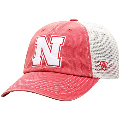 ren Mütze NCAA Vintage Team Icon verstellbar, Herren, NCAA Men's Vintage Mesh Adjustable Icon Hat, Nebraska Cornhuskers Red, Einstellbar ()
