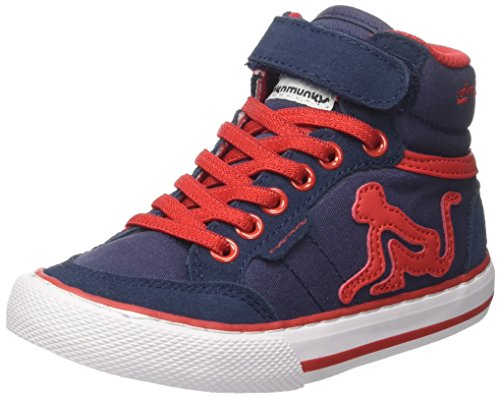DrunknMunky Boston Vitaminix, Scarpe da Tennis Bambino Blu (Navy/Red)