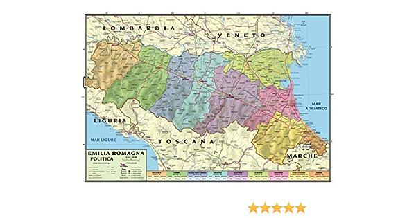 Cartina Geografica Emilia Romagna E Toscana.Carta Geografica Murale Regionale Emilia Romagna 100x140 Bifacciale Fisica E Politica Amazon It Cancelleria E Prodotti Per Ufficio