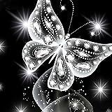 Fanxing 5d Diamond Painting 5D Diamant Malerei Blumen Diamant stickerei Rhinestone Pasted Gemälde Kreuzstich DIY Cross Stitch Kreuzstich Wohnkultur (A:25x25cm)