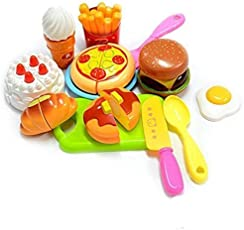 Zaid Collections Sliceable Cutting Fast Food Kitchen Set (Multicolour, zc$398) - Pack of 14
